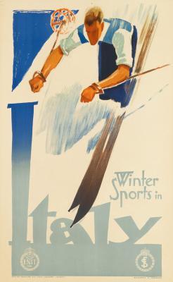 Winter Sports in Italy - Franz Lenhart - ski poster